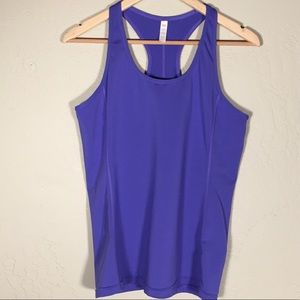 Lucy Tops - Lucy tank top purple racerback reflective sz. L